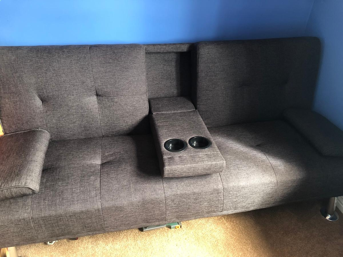 Terrific Brown Fabric Cinema Gaming Sofa Bed Squirreltailoven Fun Painted Chair Ideas Images Squirreltailovenorg