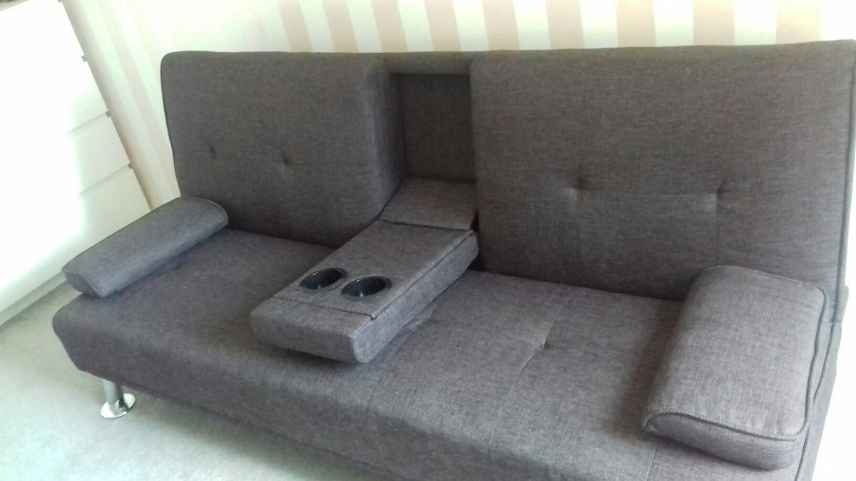 Excellent Grey Fabric Sofa Bed Cinema Style In Wa7 Brook Fur 80 00 Squirreltailoven Fun Painted Chair Ideas Images Squirreltailovenorg