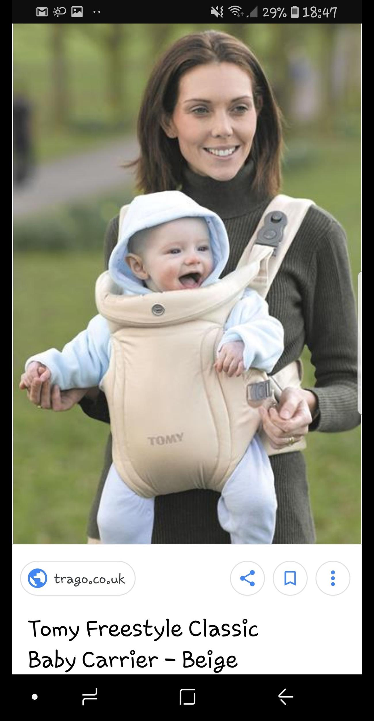 tomy baby harness