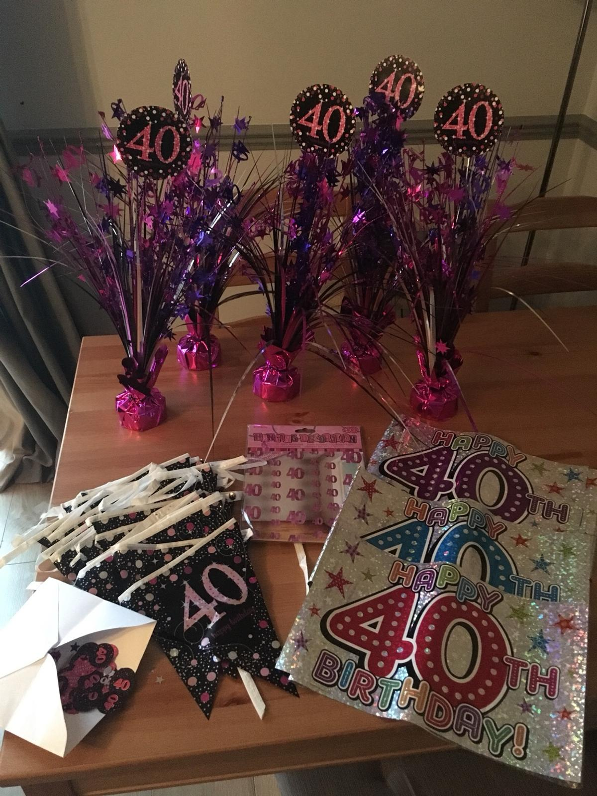 40th Birthday Decorations In BD2 Bradford Fur 1000 Kaufen