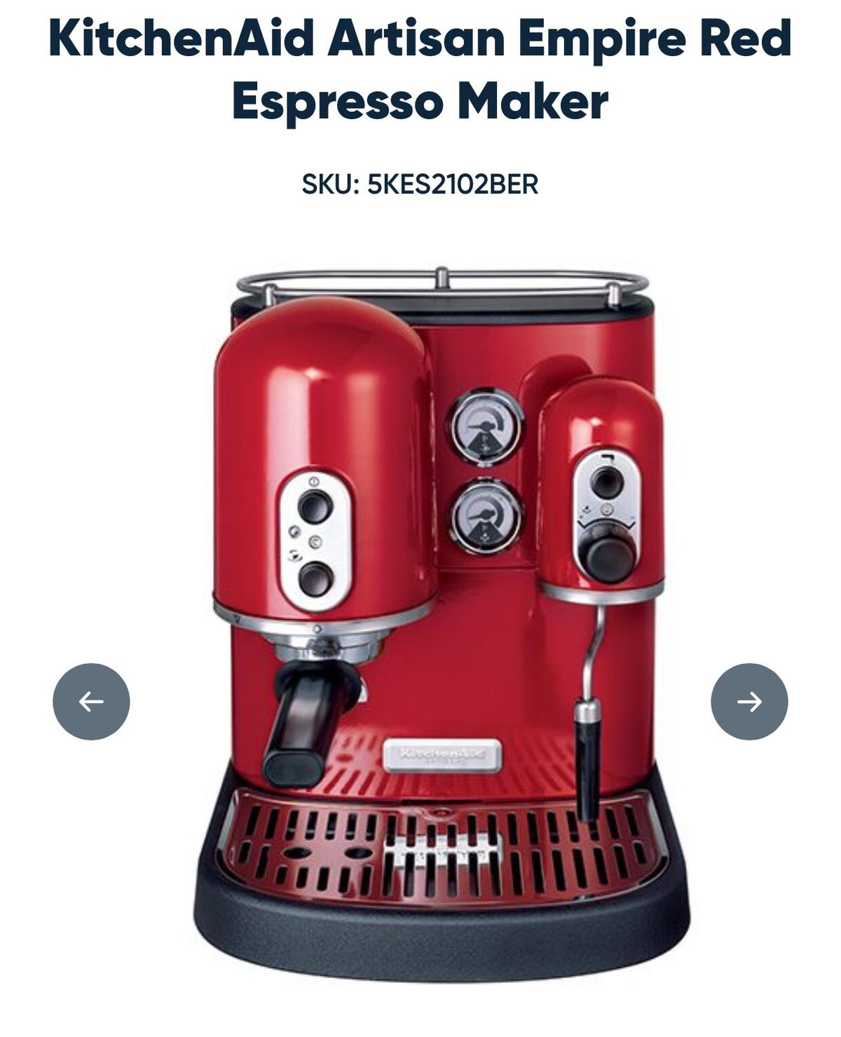 Kitchenaid Artisan Espresso Coffee Maker