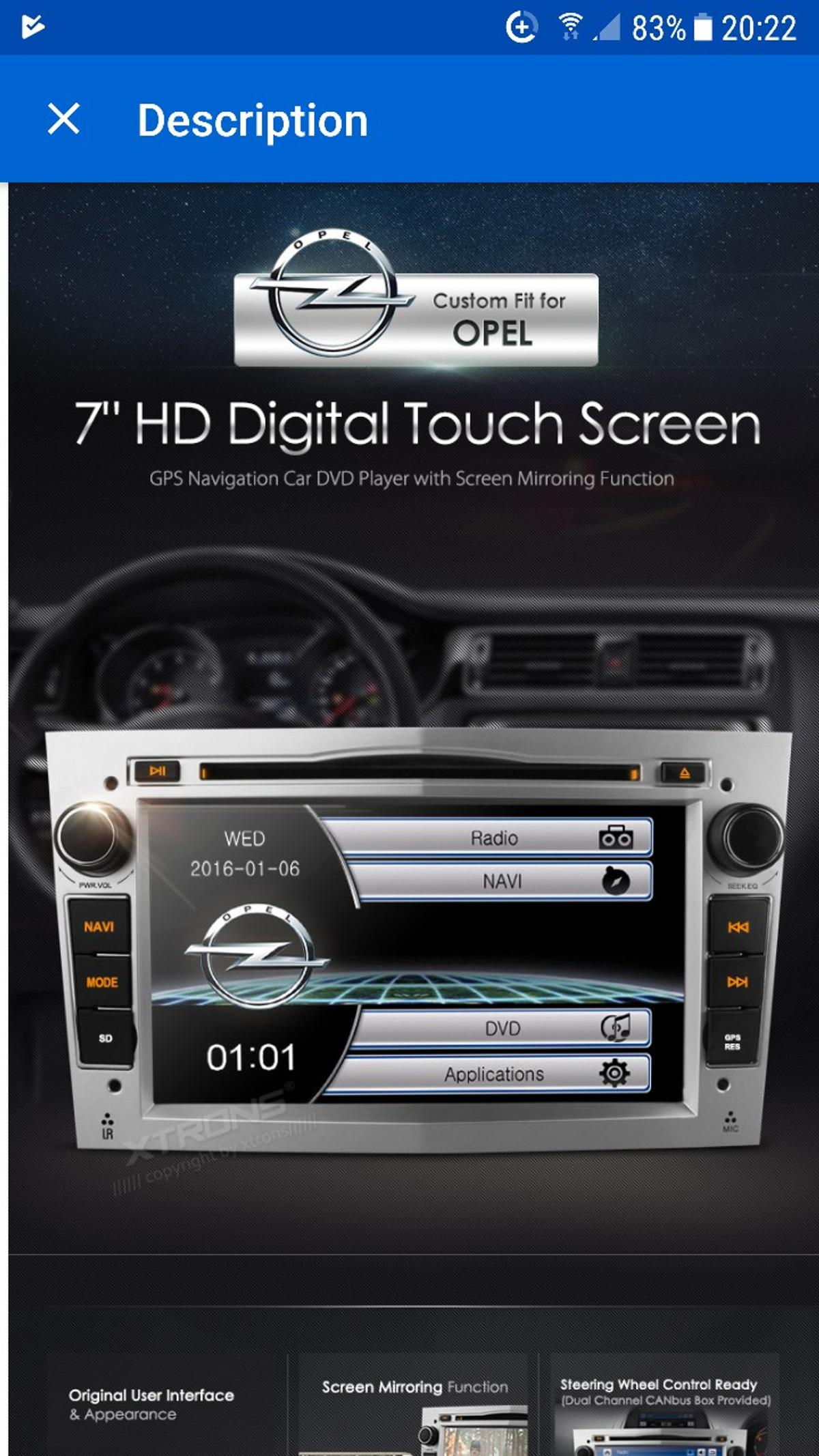 Xtrons double din android 6 0 1 stereo (grey in Packmoor for