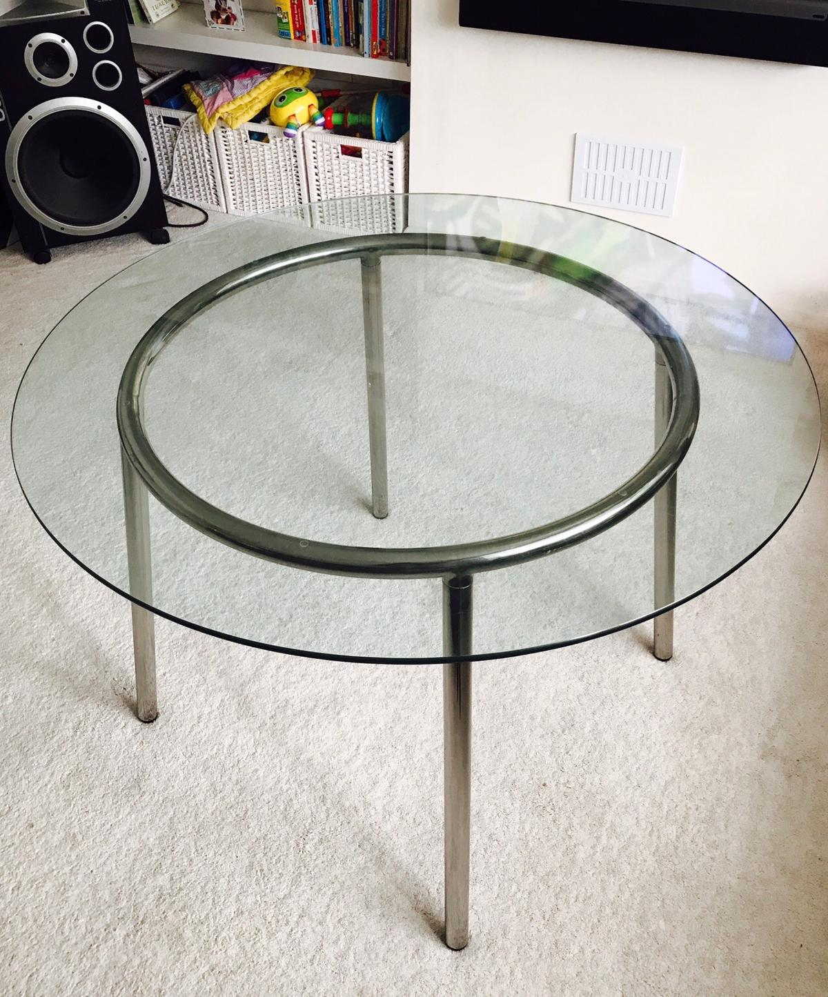 the best attitude a3a69 98986 Ikea Salmi round glass table