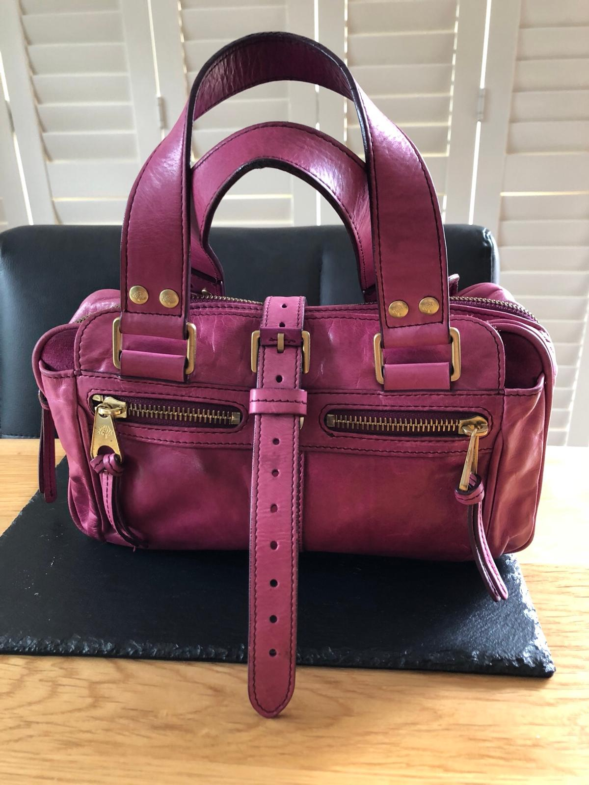 detailed images first rate no sale tax Mulberry Mabel fuchsia leather bag in S66 Rotherham for ...
