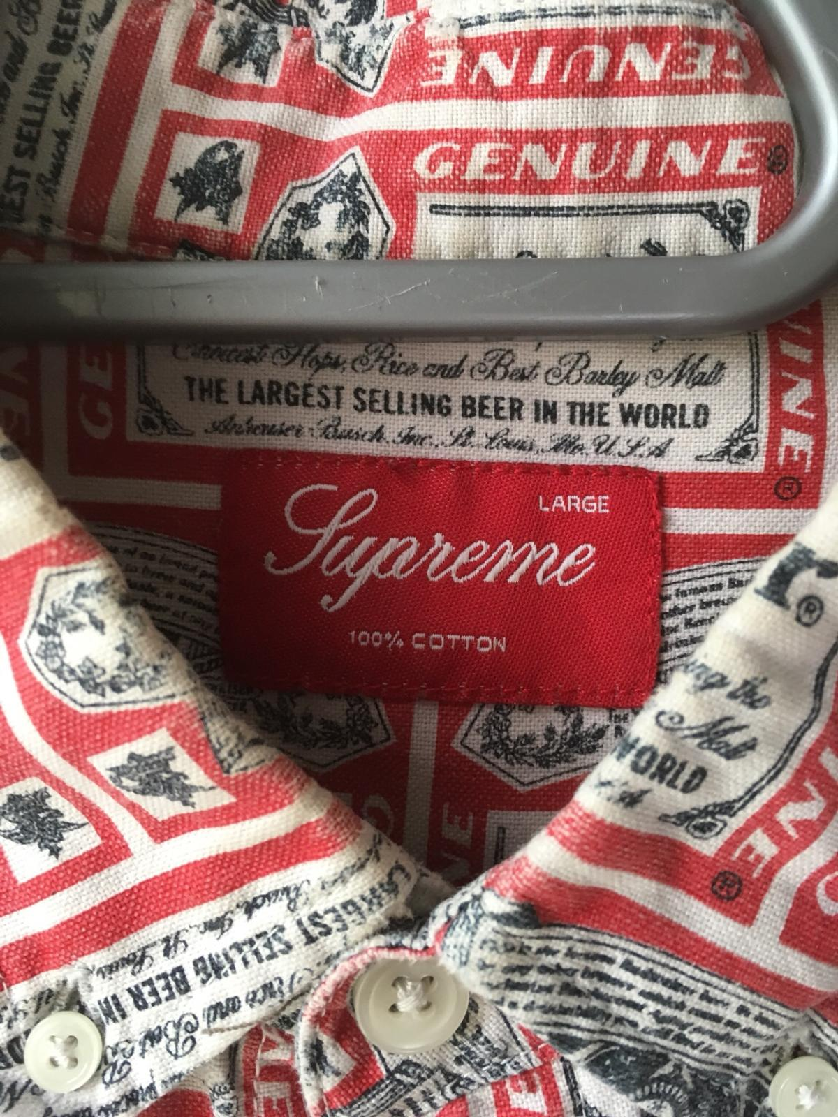 0c35238fb86a Rare supreme Budweiser shirt in N16 London for £200.00 for sale - Shpock