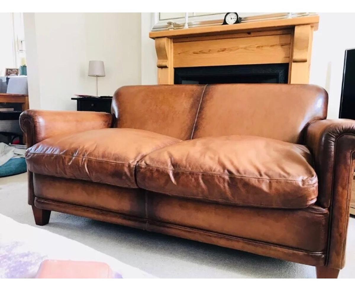 Laura Ashley leather Burlington Sofa in LS29-Wharfedale for £695.00 ...