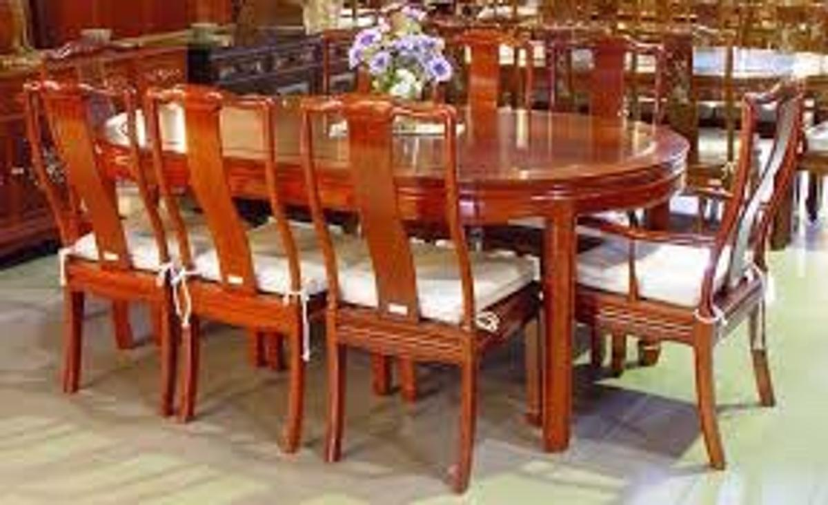 Chinese Rosewood 8 Seater Dining Set