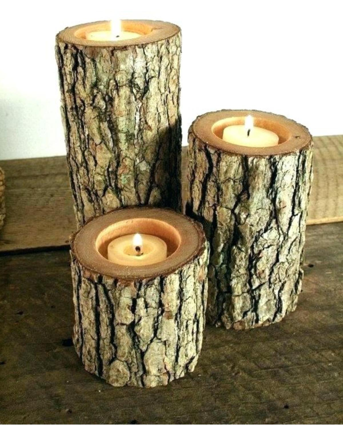 Candle Holders From Logs In Wf2 Wakefield For 7 00 For Sale Shpock