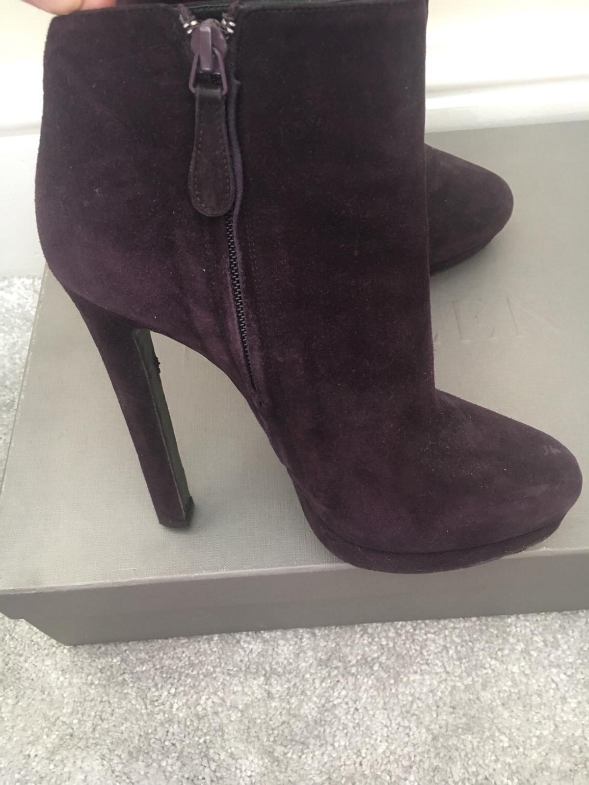 Alexander McQueen Suede Purple Boots in Trafford for £295.00