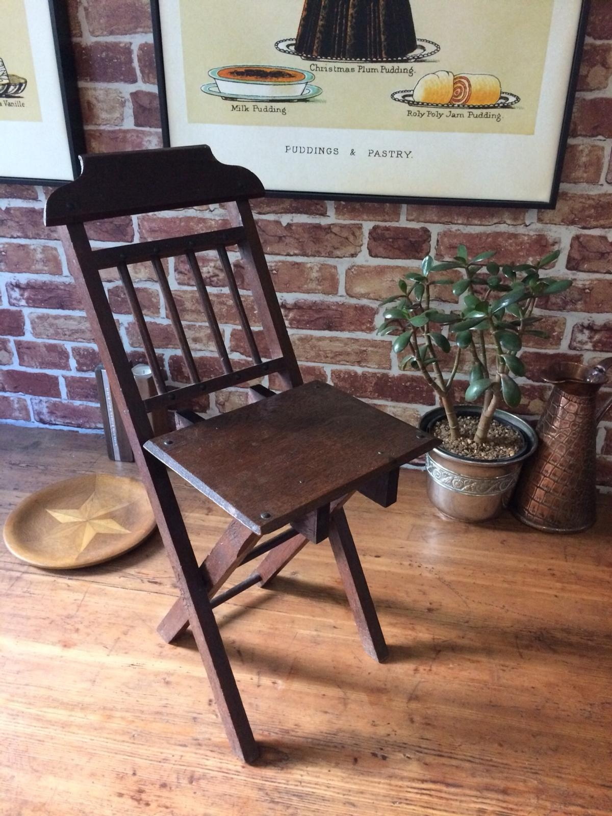 Small Vintage Antique Doll Or Teddy Chair