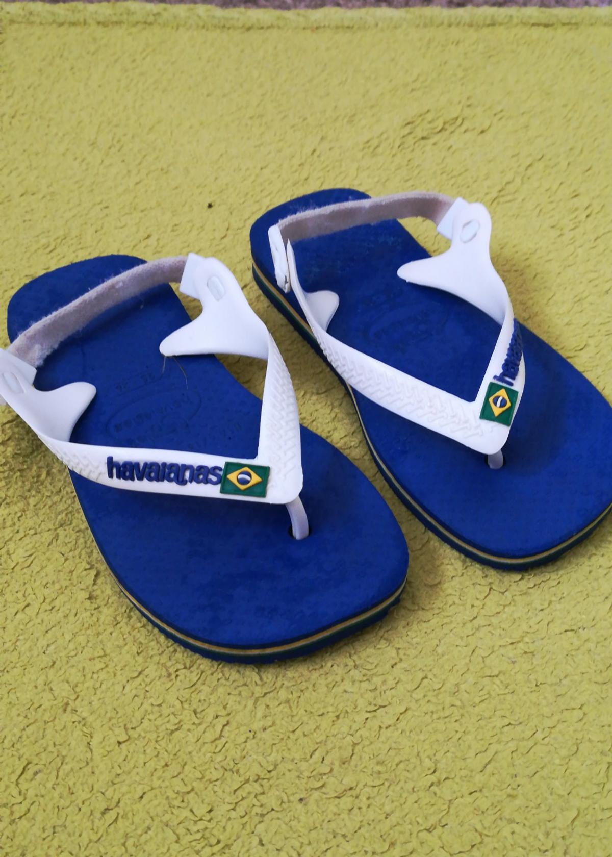 various styles new arrival premium selection havaianas babs size 25-26 blue and white