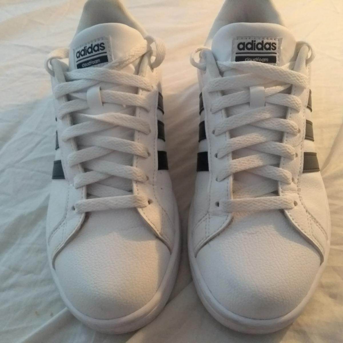 Details about Adidas Neo Comfort Footbed Grey White Pink Tennis Shoes Size 8