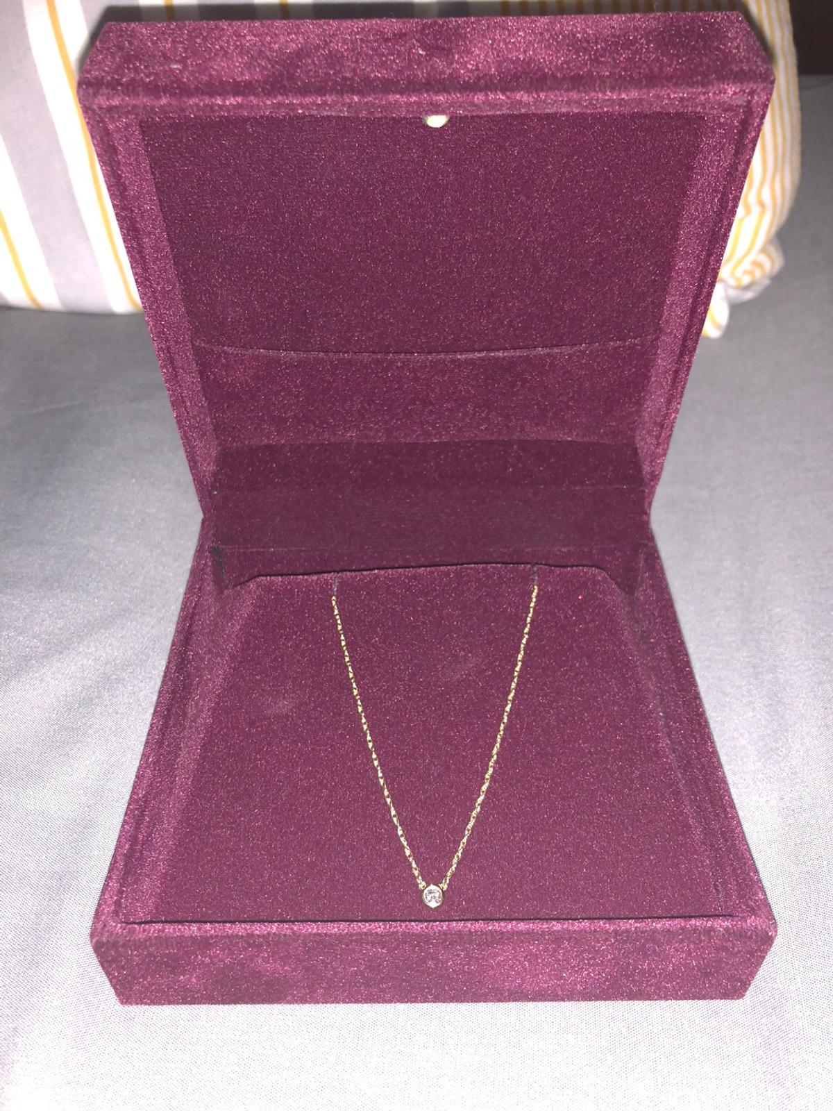 047c8753ec4be *NEW* TADA & TOY SOLITAIRE DIAMOND NECKLACE