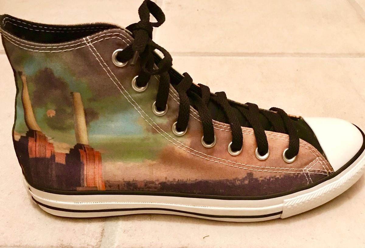 Converse custom teal and brown size 6 women's