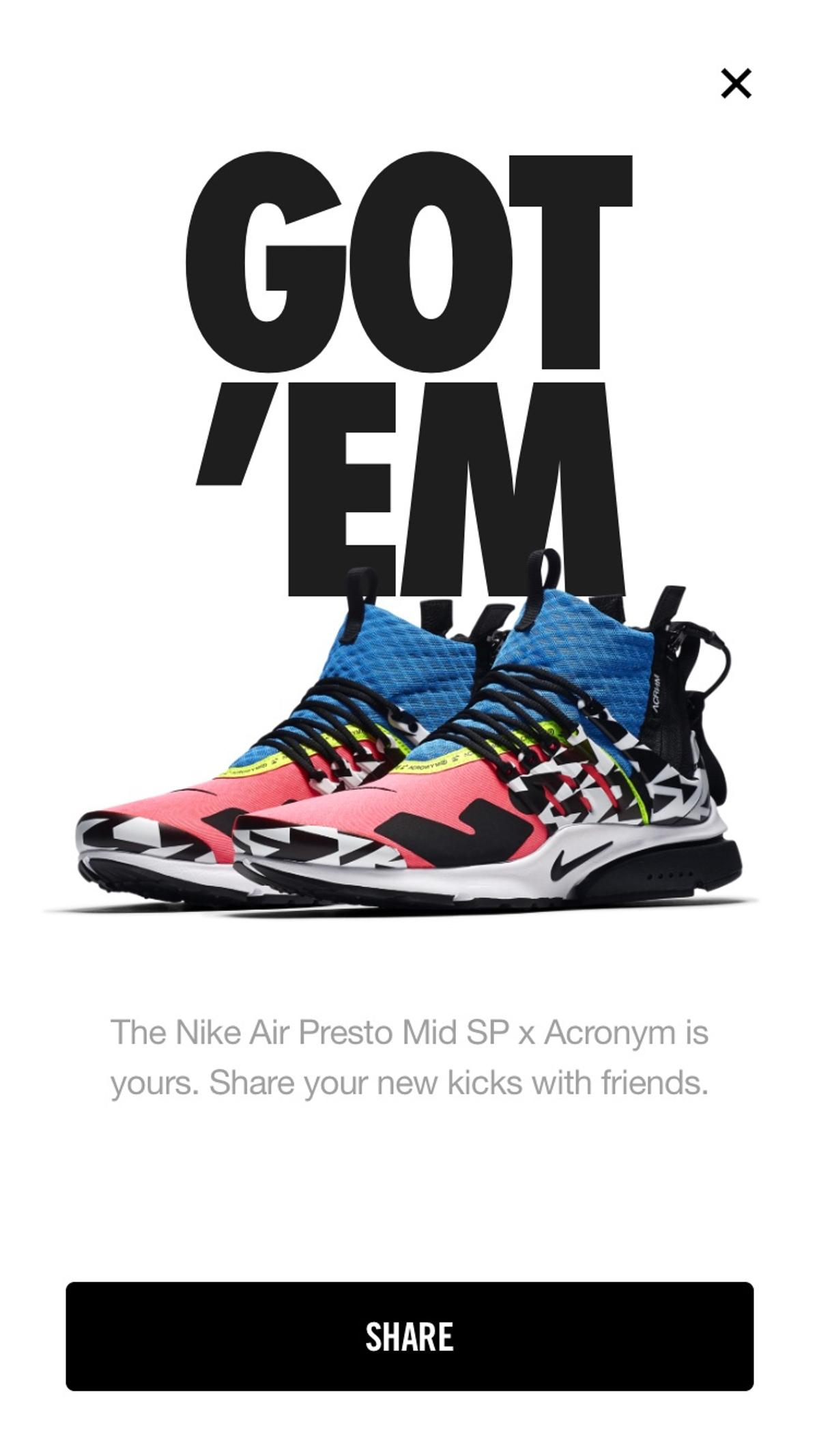 new product 45f13 f65ca Acronym Presto Mid Racer Pink Multi in SW1 London for £239.00 for ...