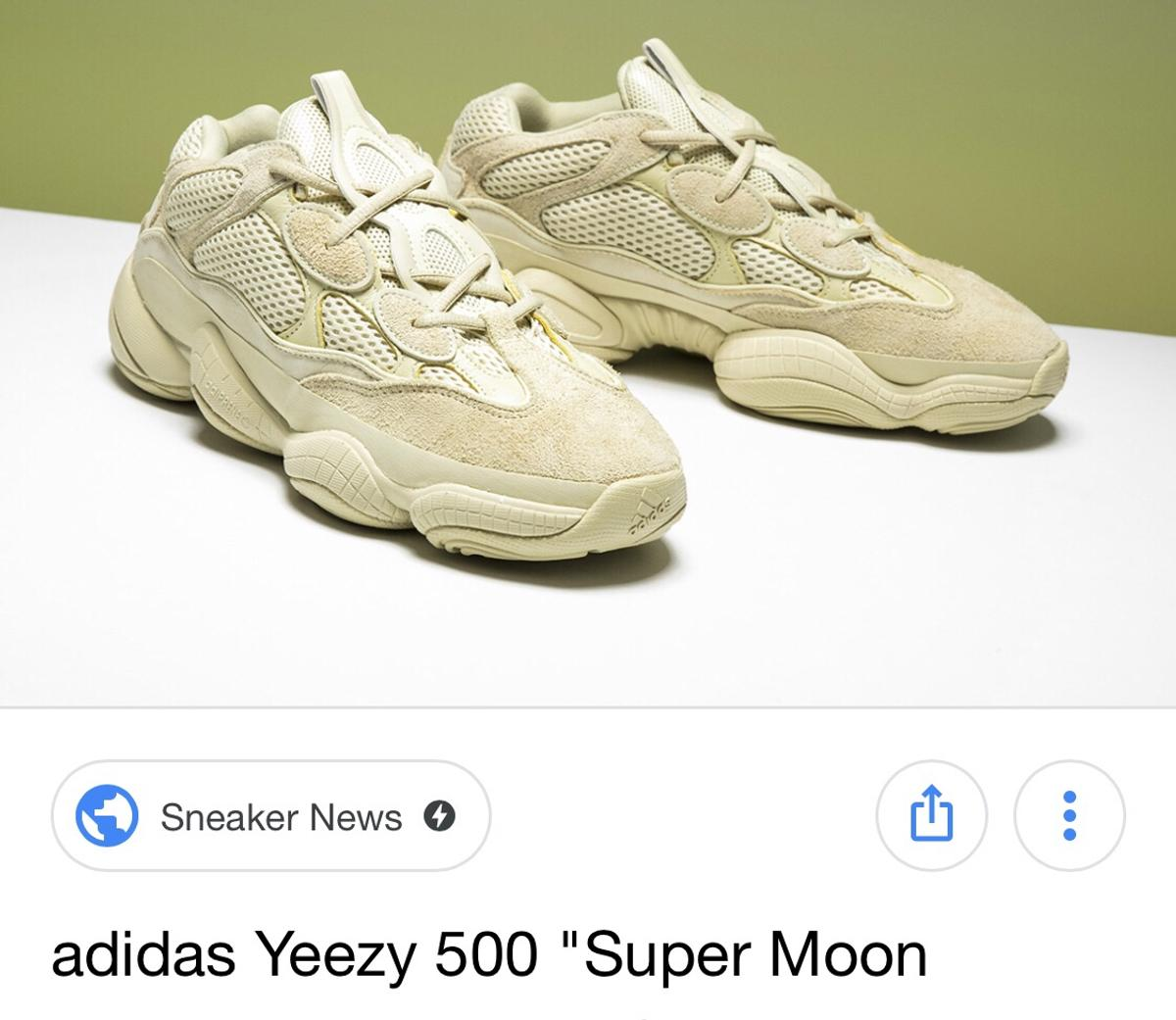c8bf3004e70 Adidas yeezy boost 500 yellow moon uk7.5 in SW3 Chelsea for £225.00 ...