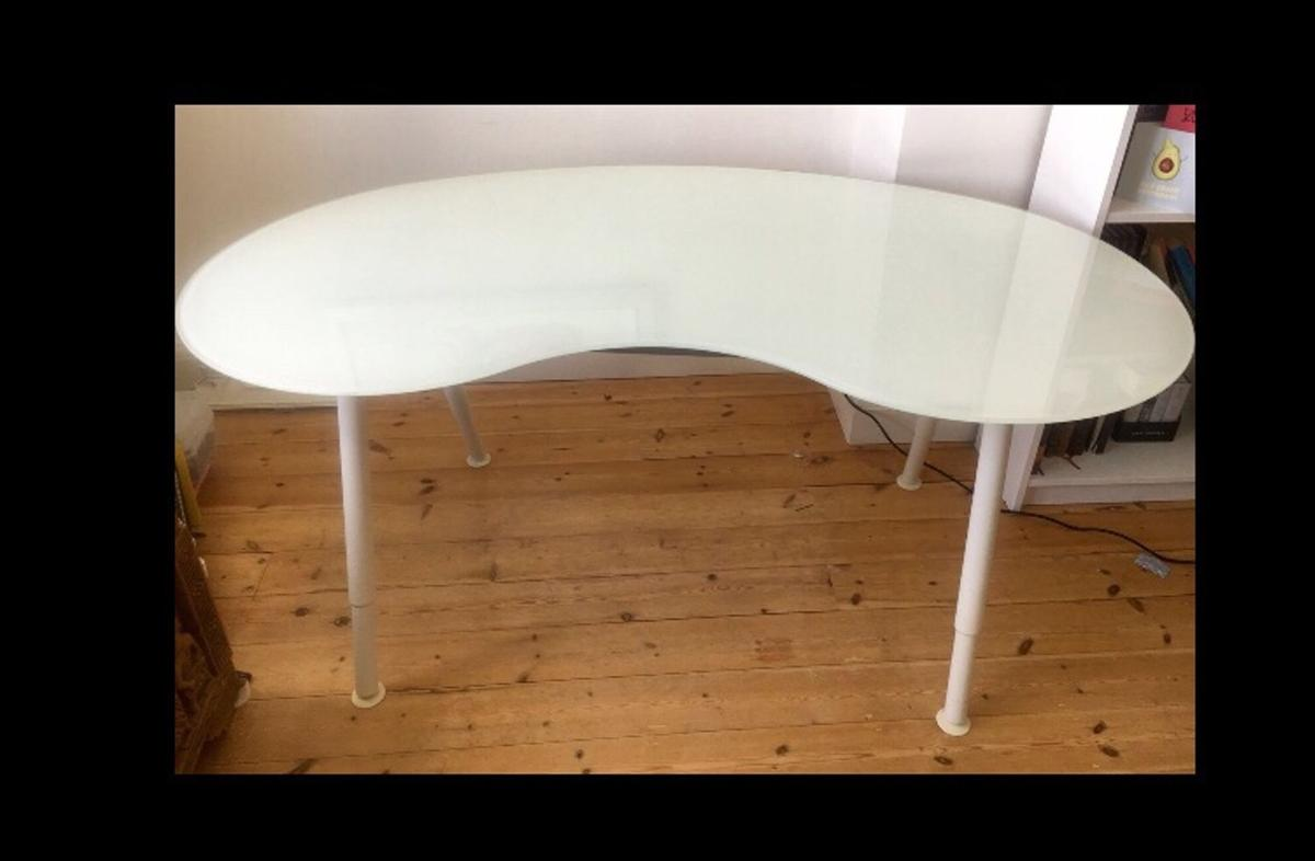 Elegant Curved Glass Desk Ikea Galant In Ha3 London For 45 00 For Sale Shpock