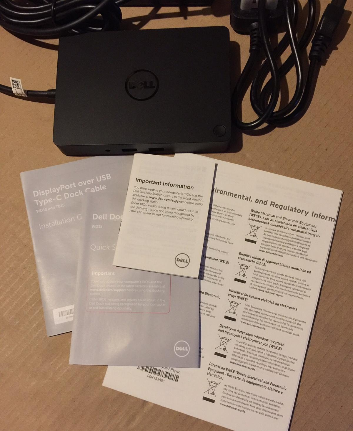 Dell USB-C dock station WD15 in Aylesbury for £99 00 for