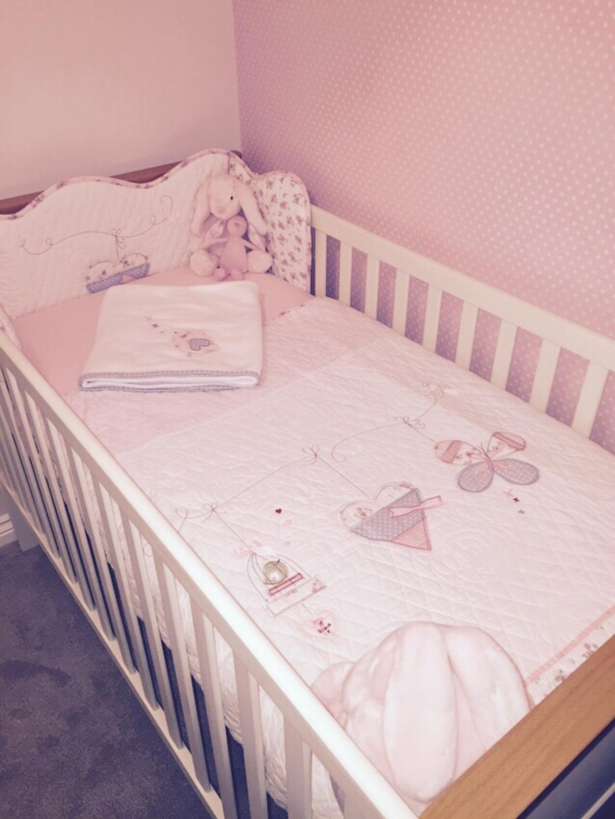 John Lewis Baby Boy Bedroom: Baby's Cot Bed And Wardrobe Set (John Lewis) In Norton-Le