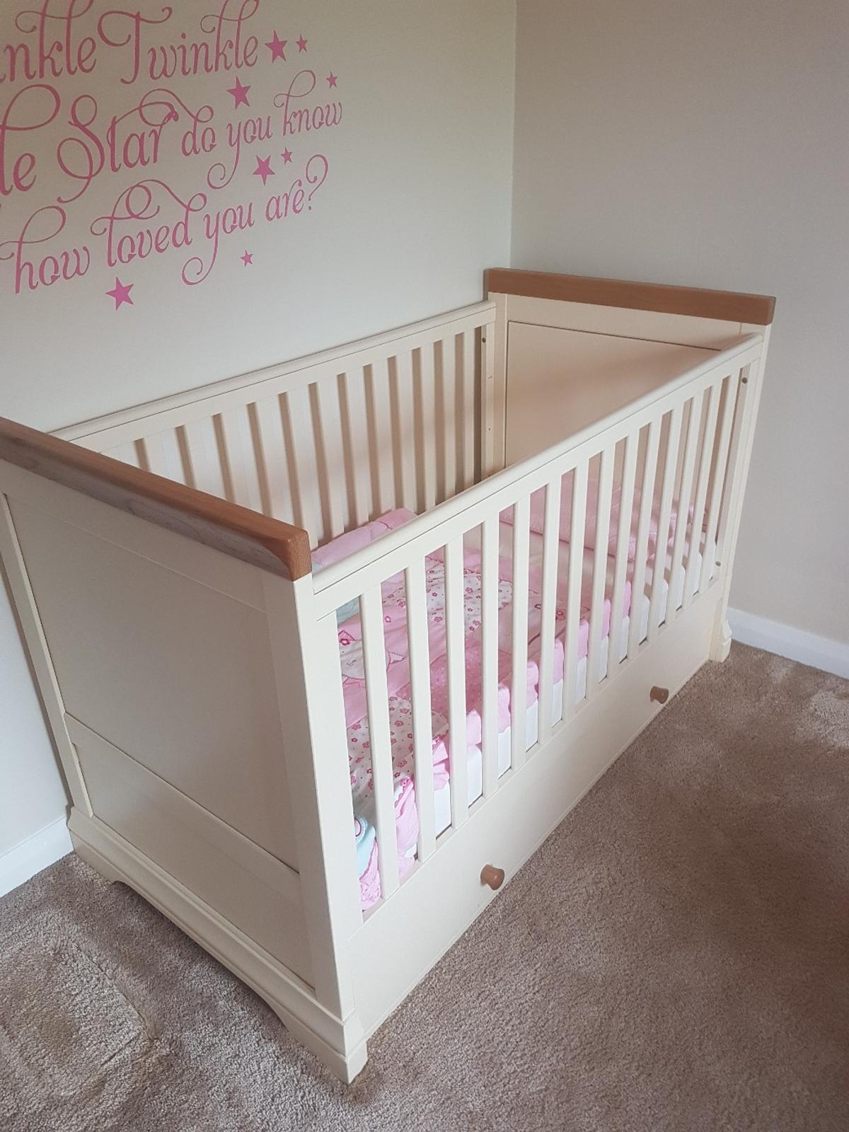 Oak Furniture Land Cot Bed And Mattress