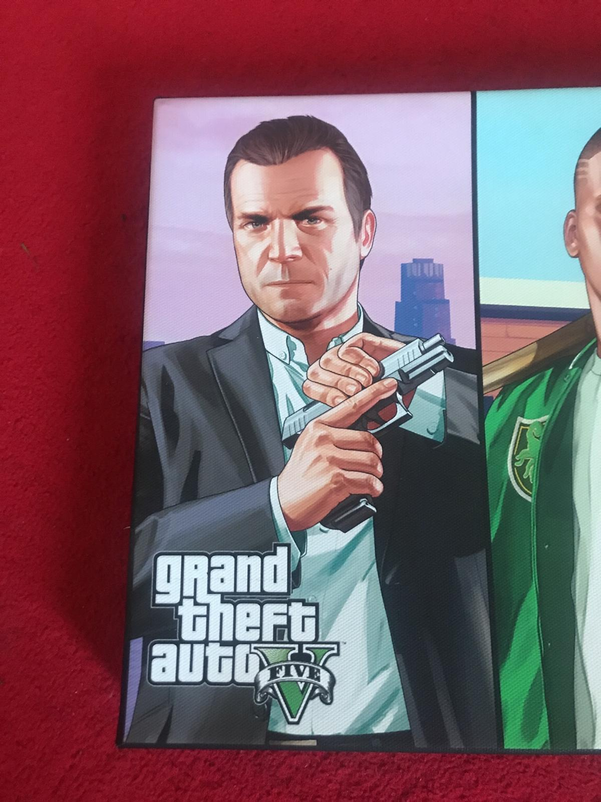 GTA V STORY MODE CANVAS in Lichfield for £10 00 for sale