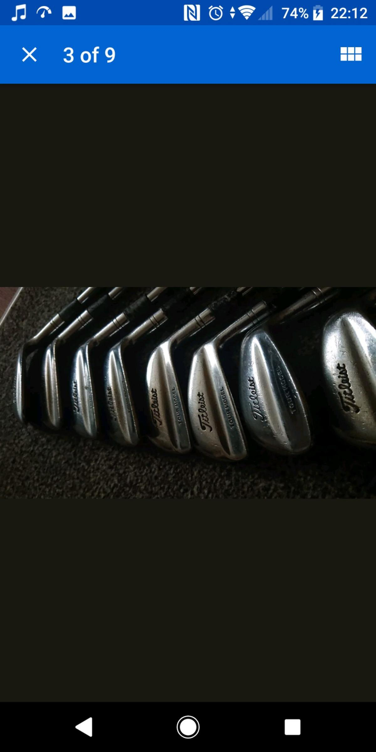 Titleist Tour Model Irons (3-PW) in WR2 Worcester for £120 00 for