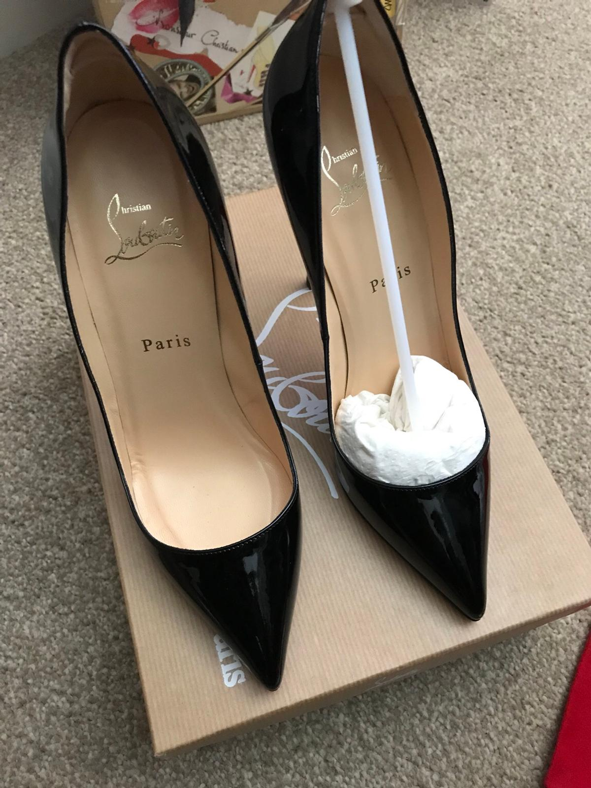 low priced 8633a 05f30 New Christian Louboutin 120mm Black Patent in EC1N Temple ...