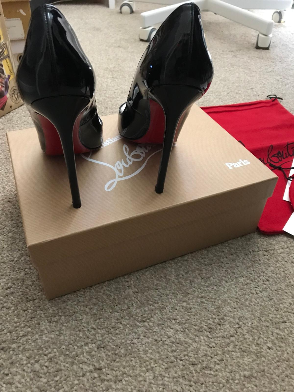 low priced 39d34 f93a7 New Christian Louboutin 120mm Black Patent in EC1N Temple ...