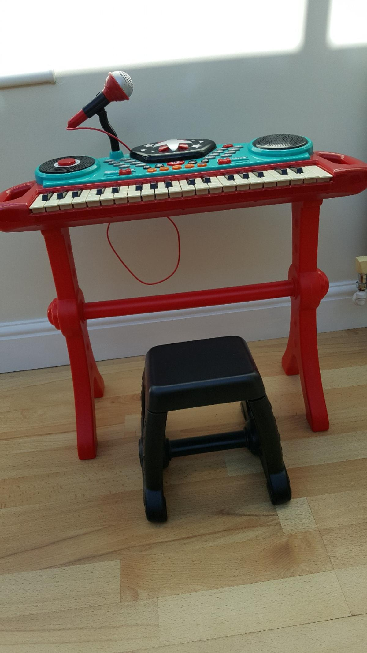 Miraculous Elc Childs Piano Keyboard With Stool Machost Co Dining Chair Design Ideas Machostcouk