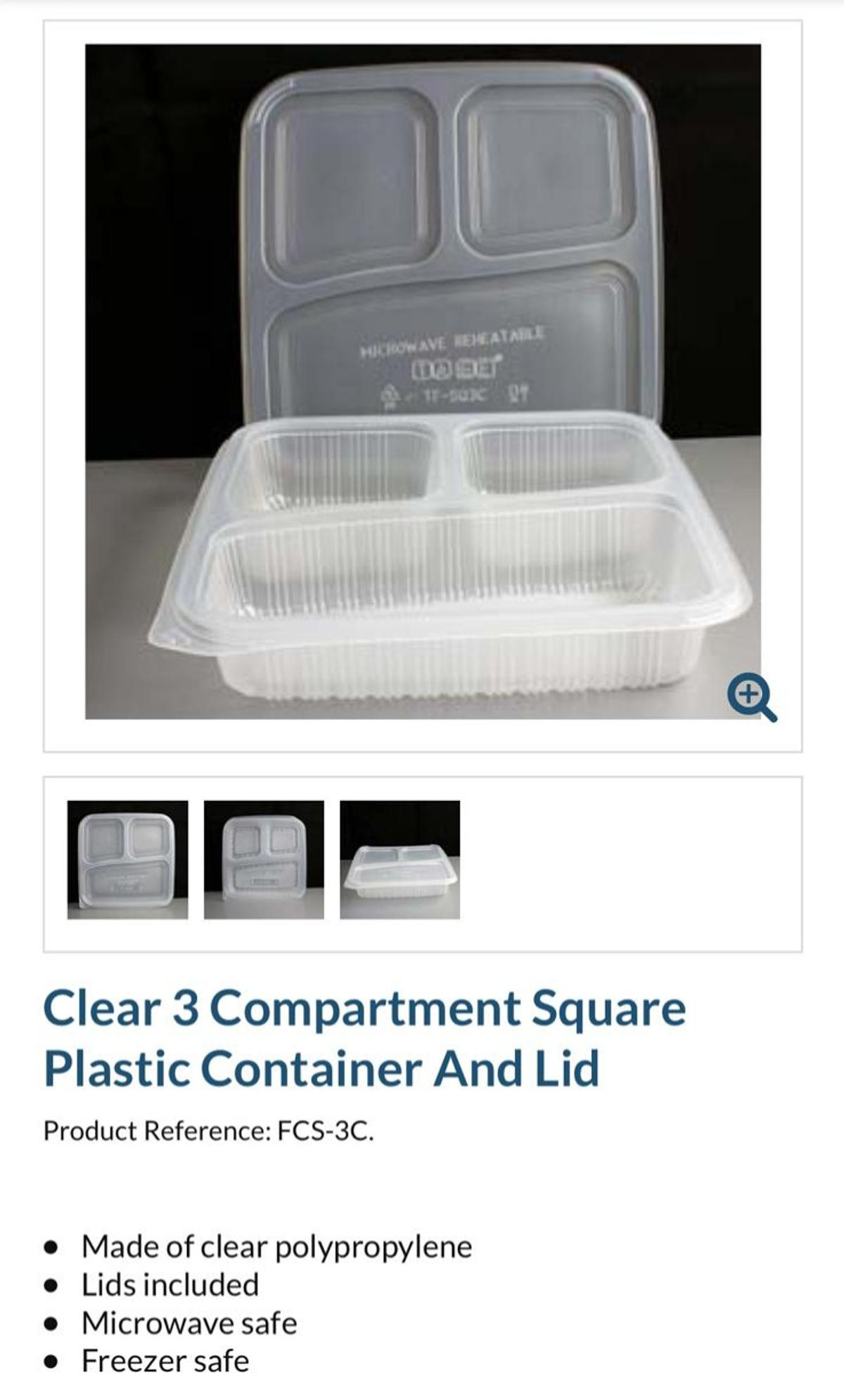 Container with lid 3compartments in Burtonwood for £90 00