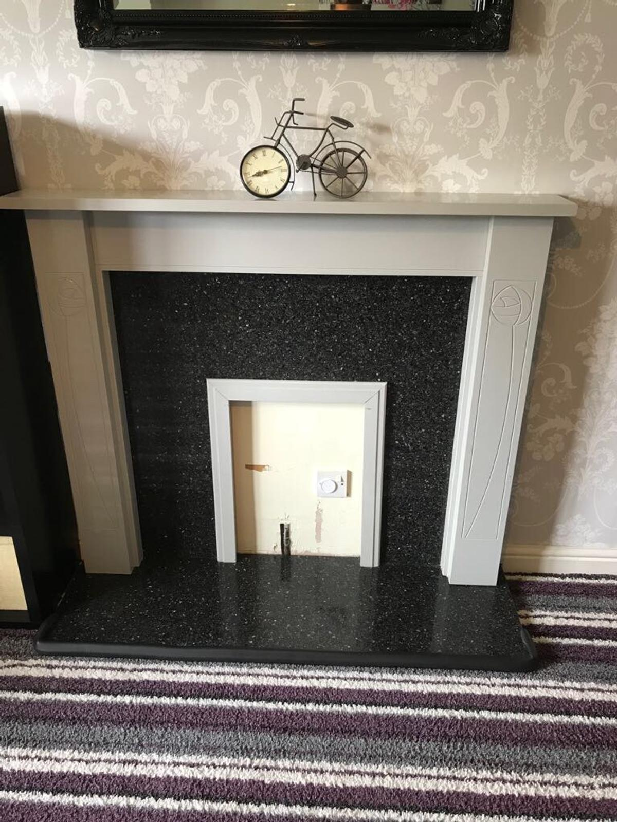 Grey Fire Surround And Black Marble Backing In Wf13 Dewsbury For 45 00 For Sale Shpock