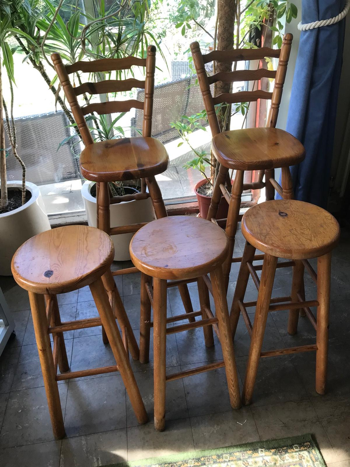 Wondrous Solid Pine Breakfast Bar Stools In Kt8 Elmbridge For 75 00 Caraccident5 Cool Chair Designs And Ideas Caraccident5Info