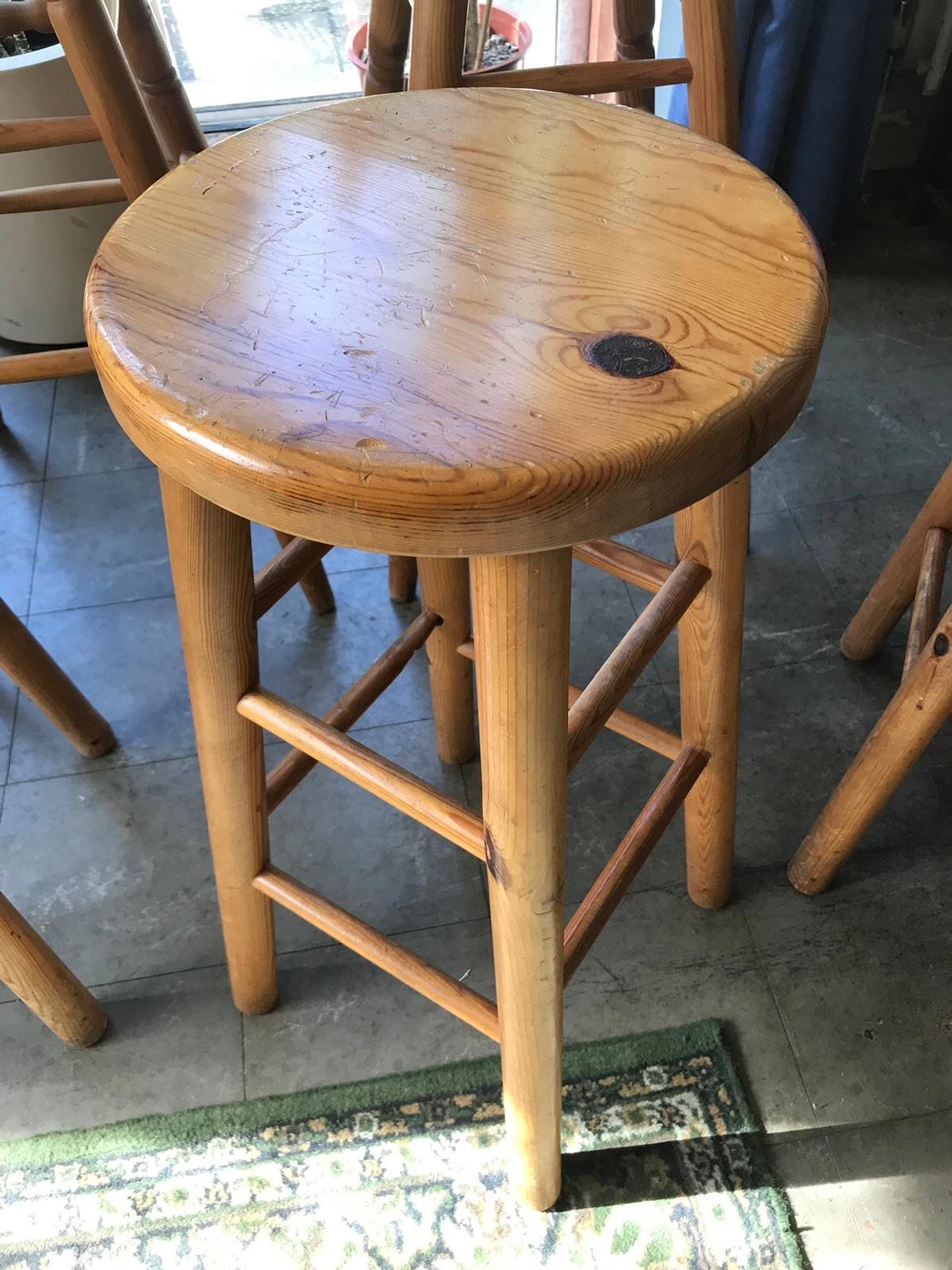 Terrific Solid Pine Breakfast Bar Stools In Kt8 Elmbridge For 75 00 Caraccident5 Cool Chair Designs And Ideas Caraccident5Info