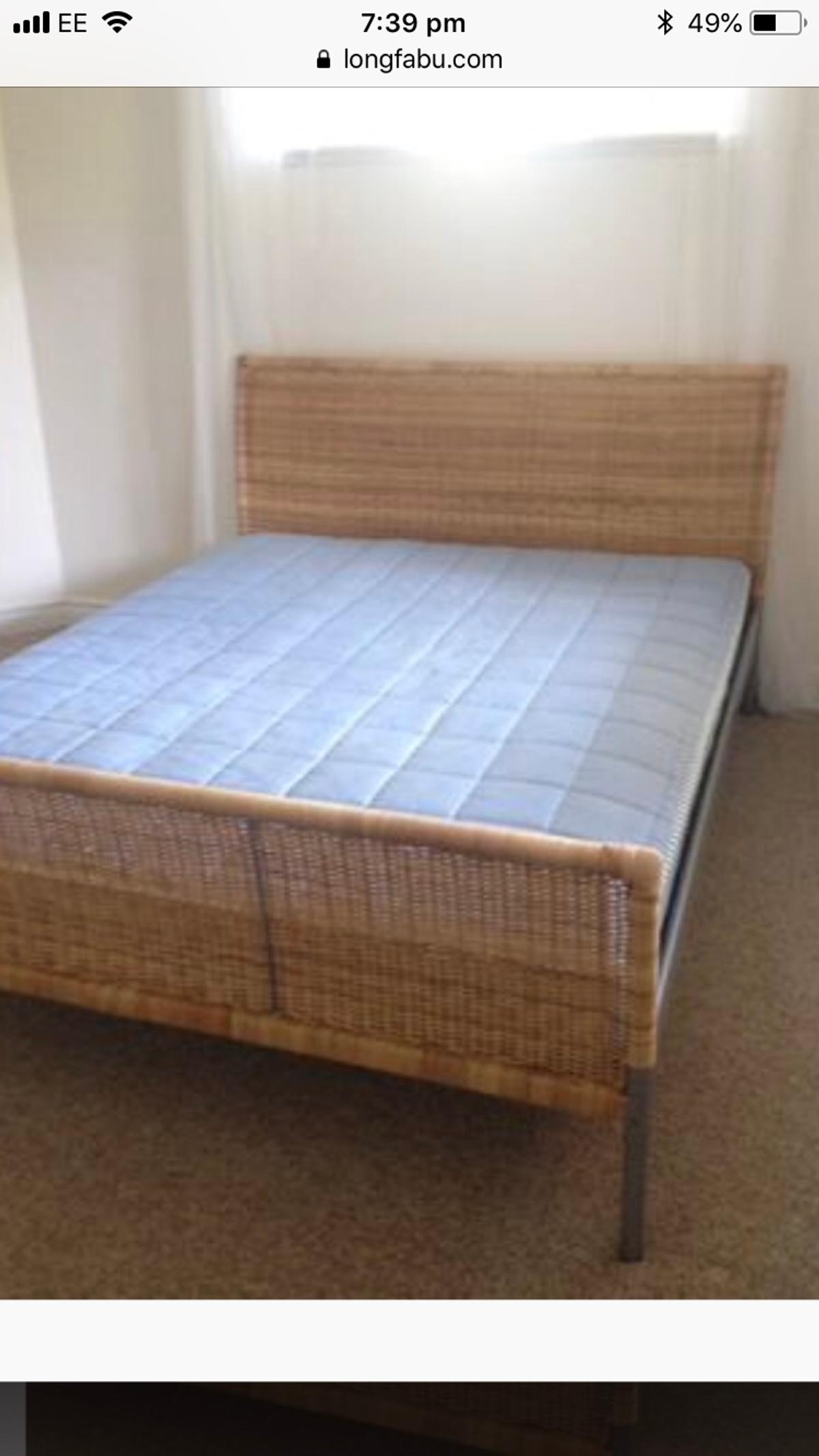 Ikea Rattan Sleigh Bed King Size In Ch48 Wirral For 50 00 For Sale Shpock