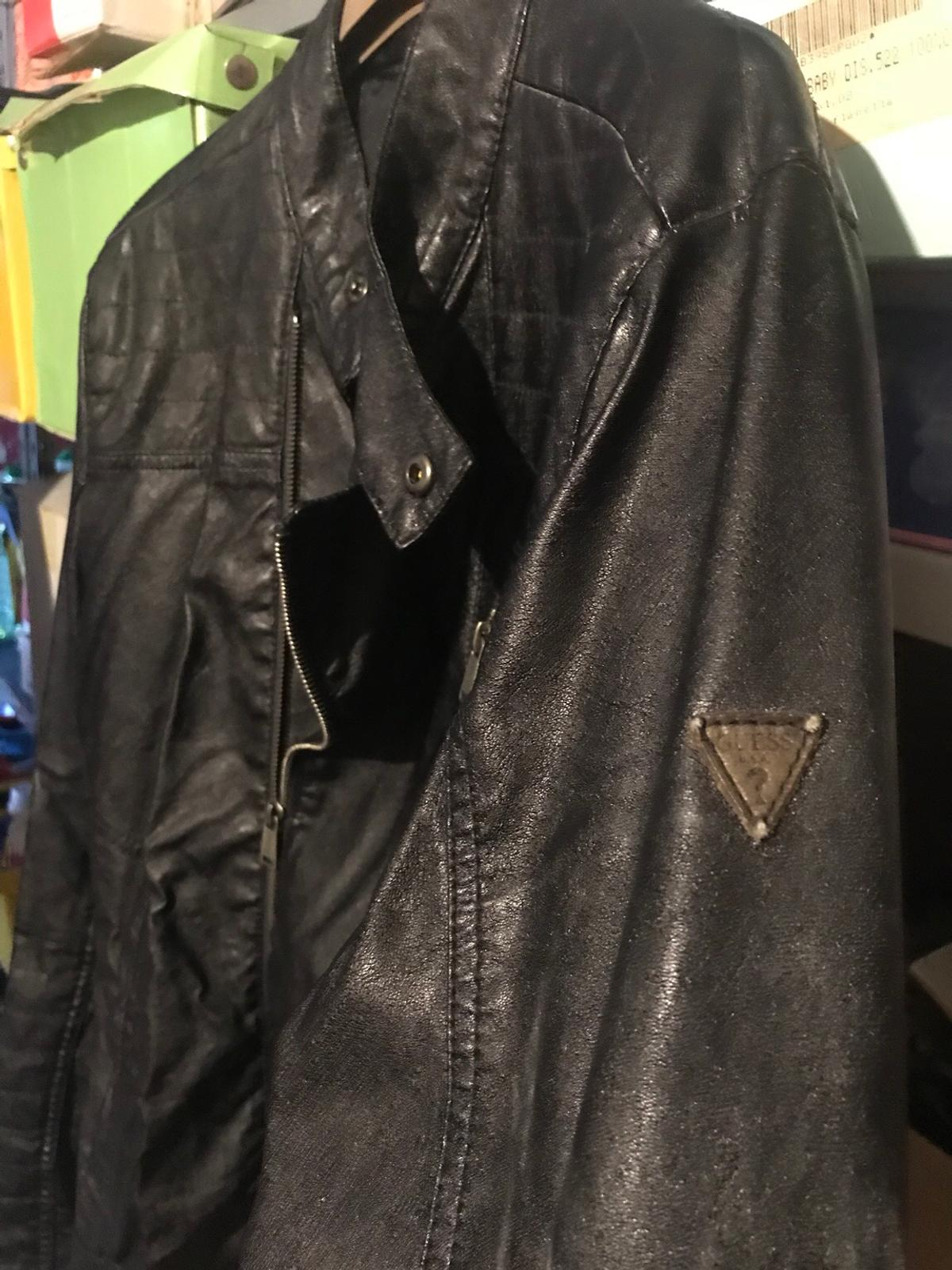 the best attitude 65a62 daf1d Giacca uomo di similpelle Guess