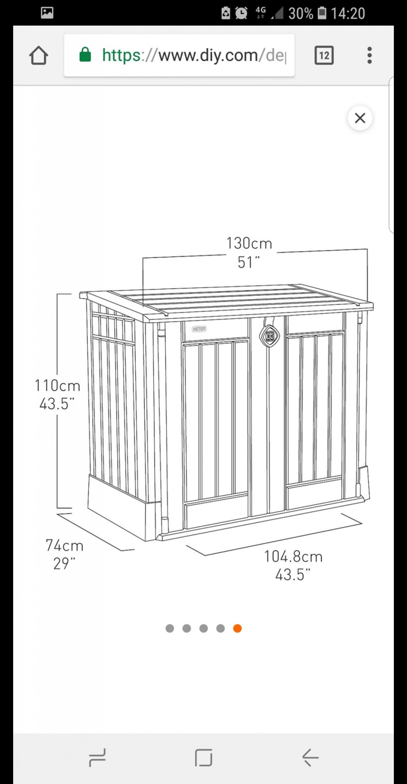 B Q Plastic Garden Storage Box In Ws10 Walsall For 60 00 For Sale Shpock