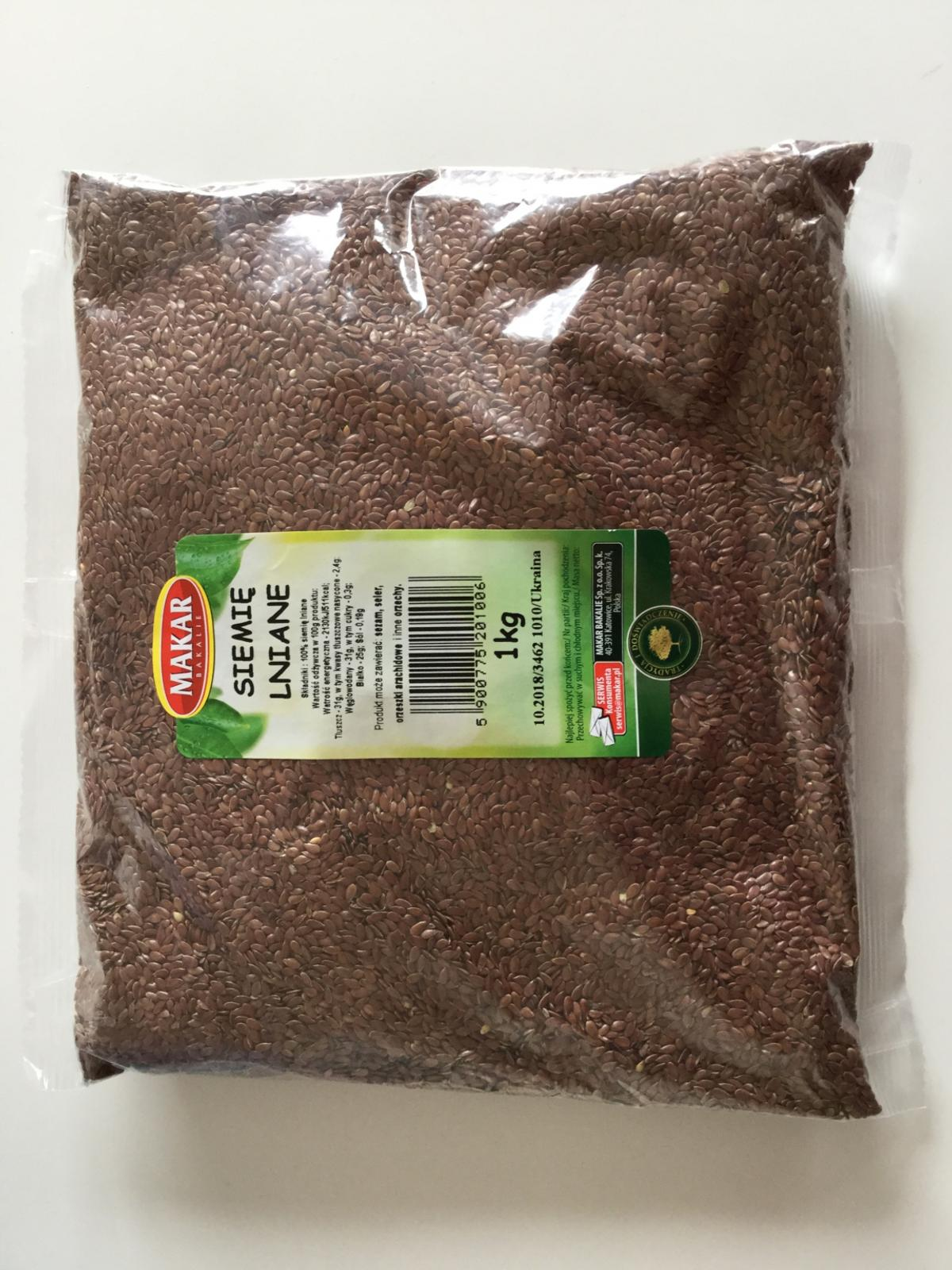 New Organic LINSEED 1kg Expiry 10/2018