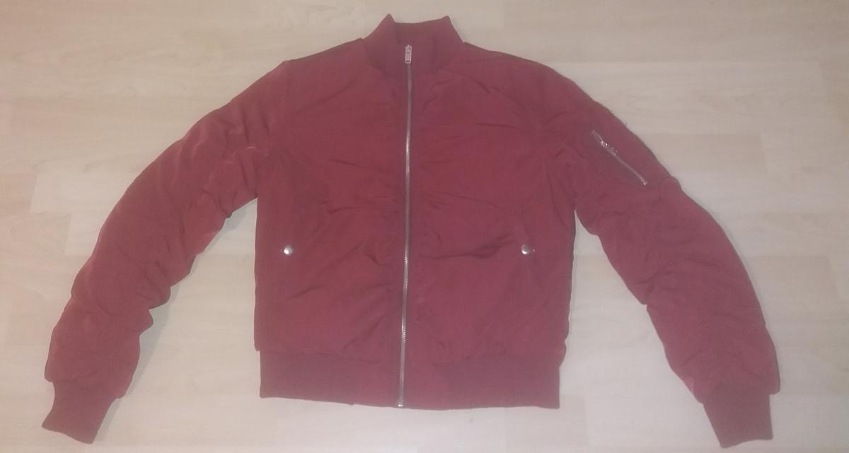 best loved a4450 86c70 Moderne Bomberjacke rot M 38 Bordeaux