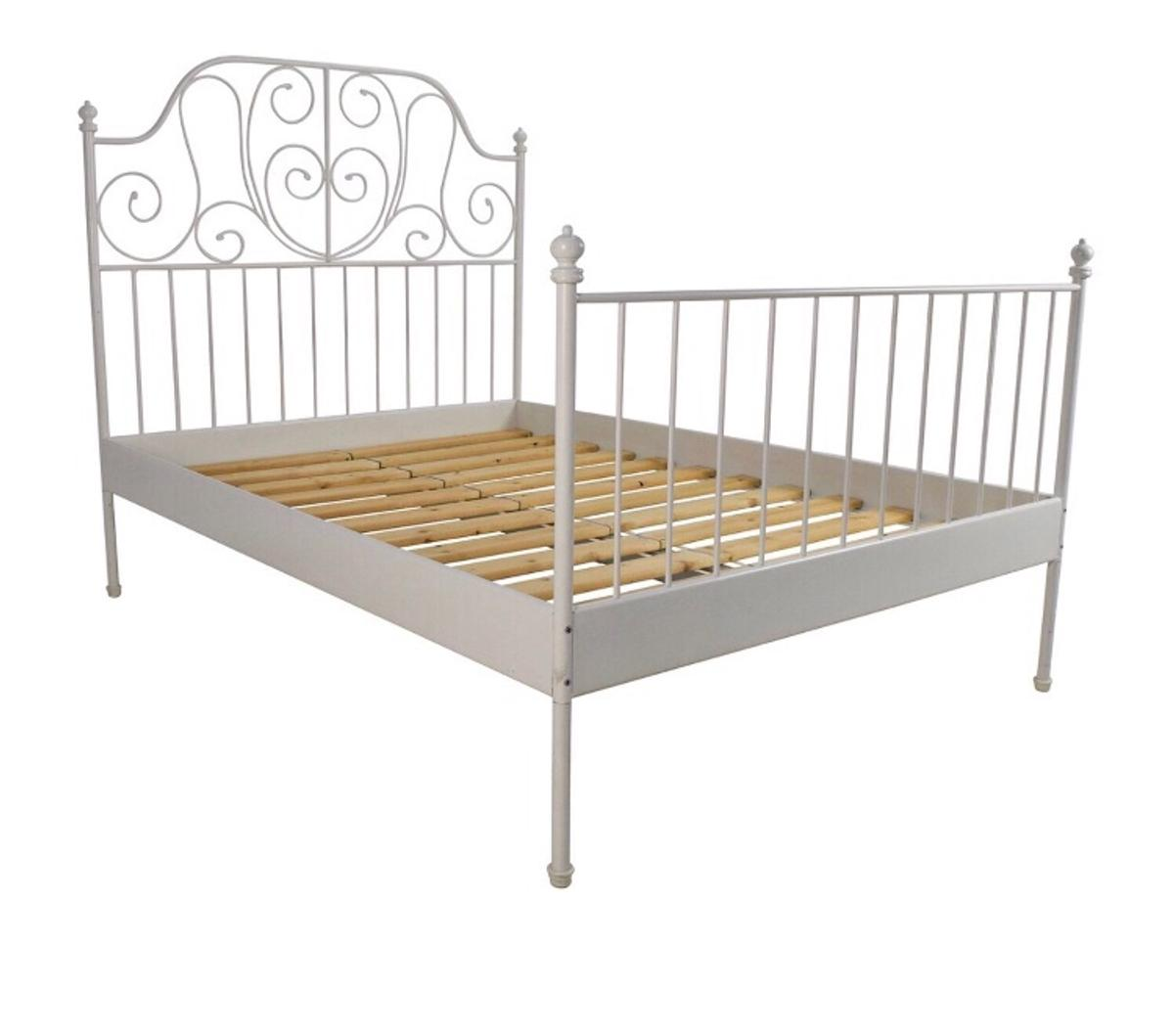 Ikea Leirvik White Metal Double Bed Frame In South Staffordshire For 30 00 For Sale Shpock