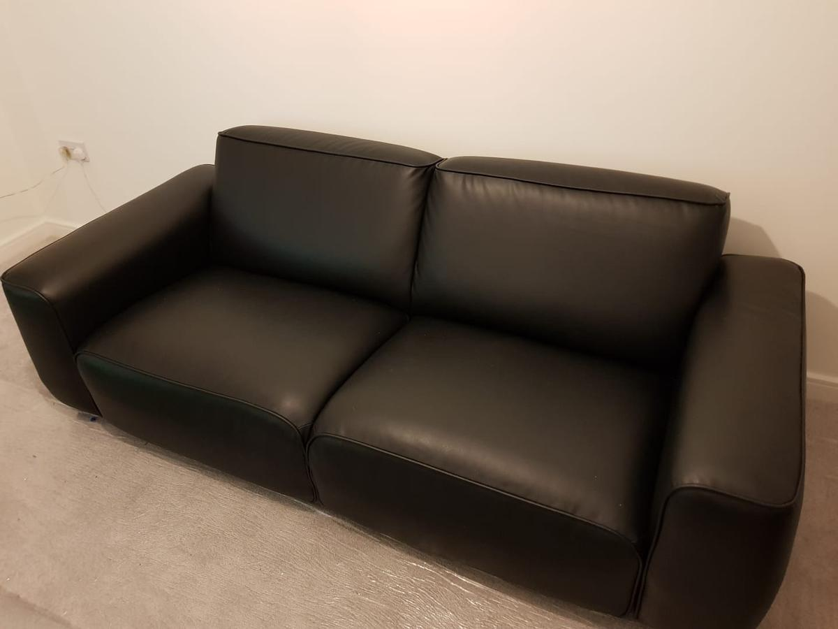 Ikea Black Leather Sofa Couch