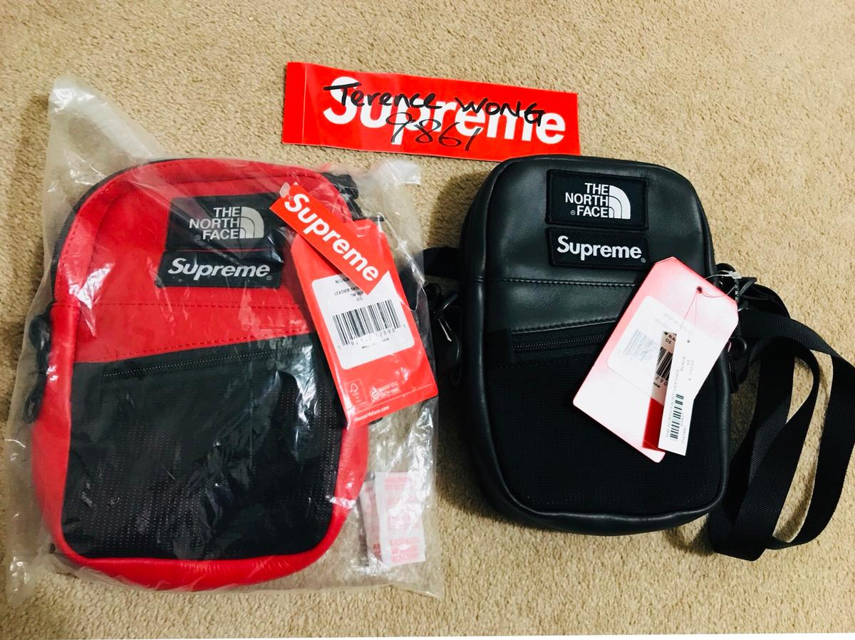 Supreme X TNF Leather Shoulder Bag In W1S Westminster For £200 00