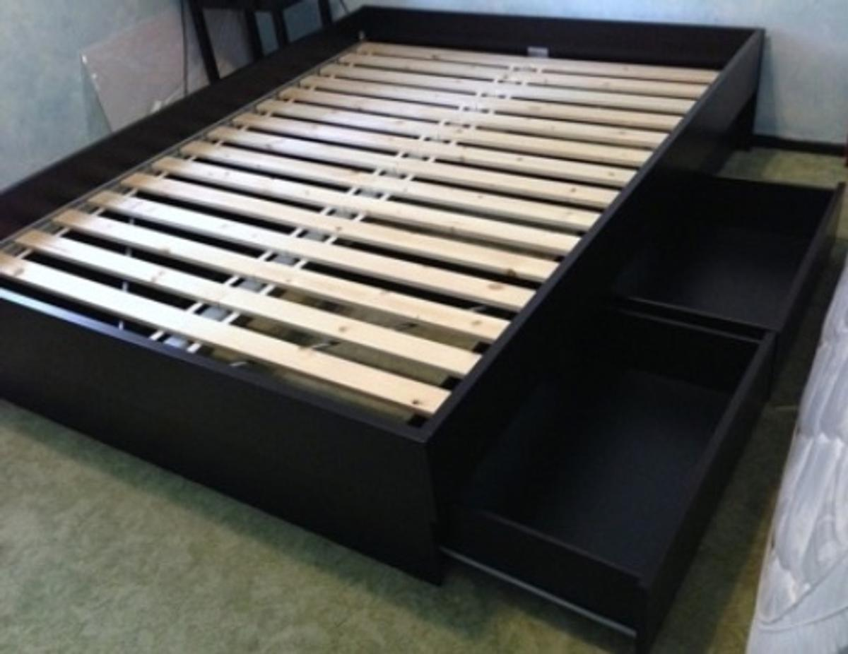 IKEA Malm Bed Frame with 4 Drawers in