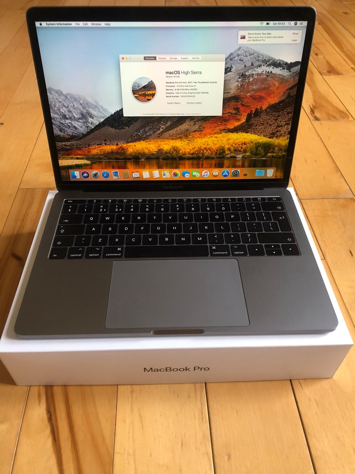 MacBook Pro 13 inch space grey 2017 like new in Leicester