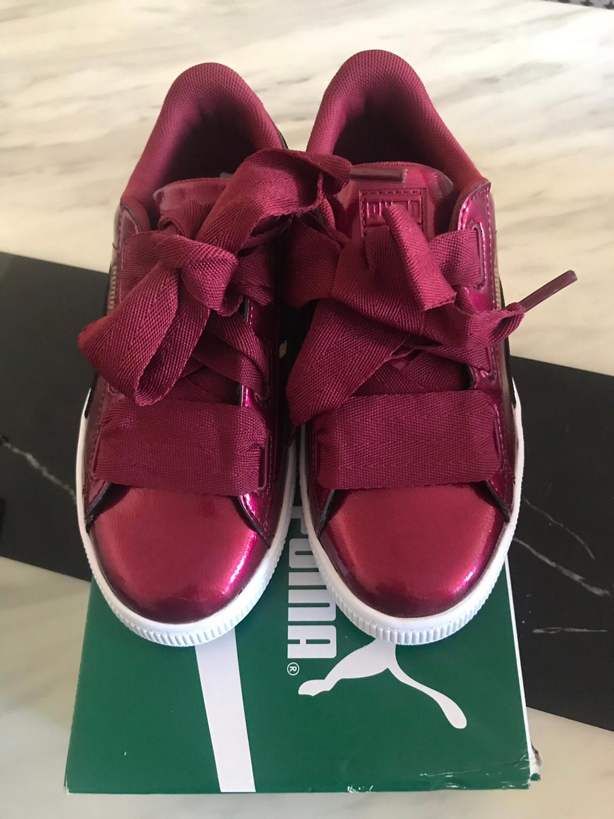 separation shoes b9cc1 443df Puma Basket heart glam Tibetan Red size 2 in N1 Islington ...
