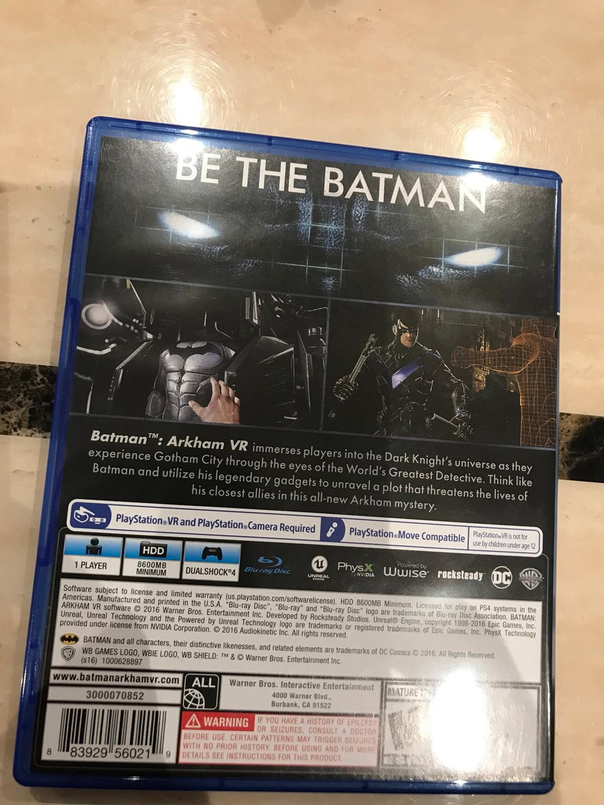 cf614d60e Batman Arkham VR PS4 in Coventry for £10.00 for sale - Shpock