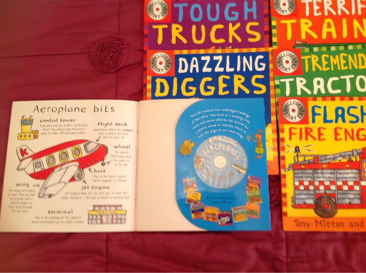 Amazing Machines Books with CD, Tony Mitton
