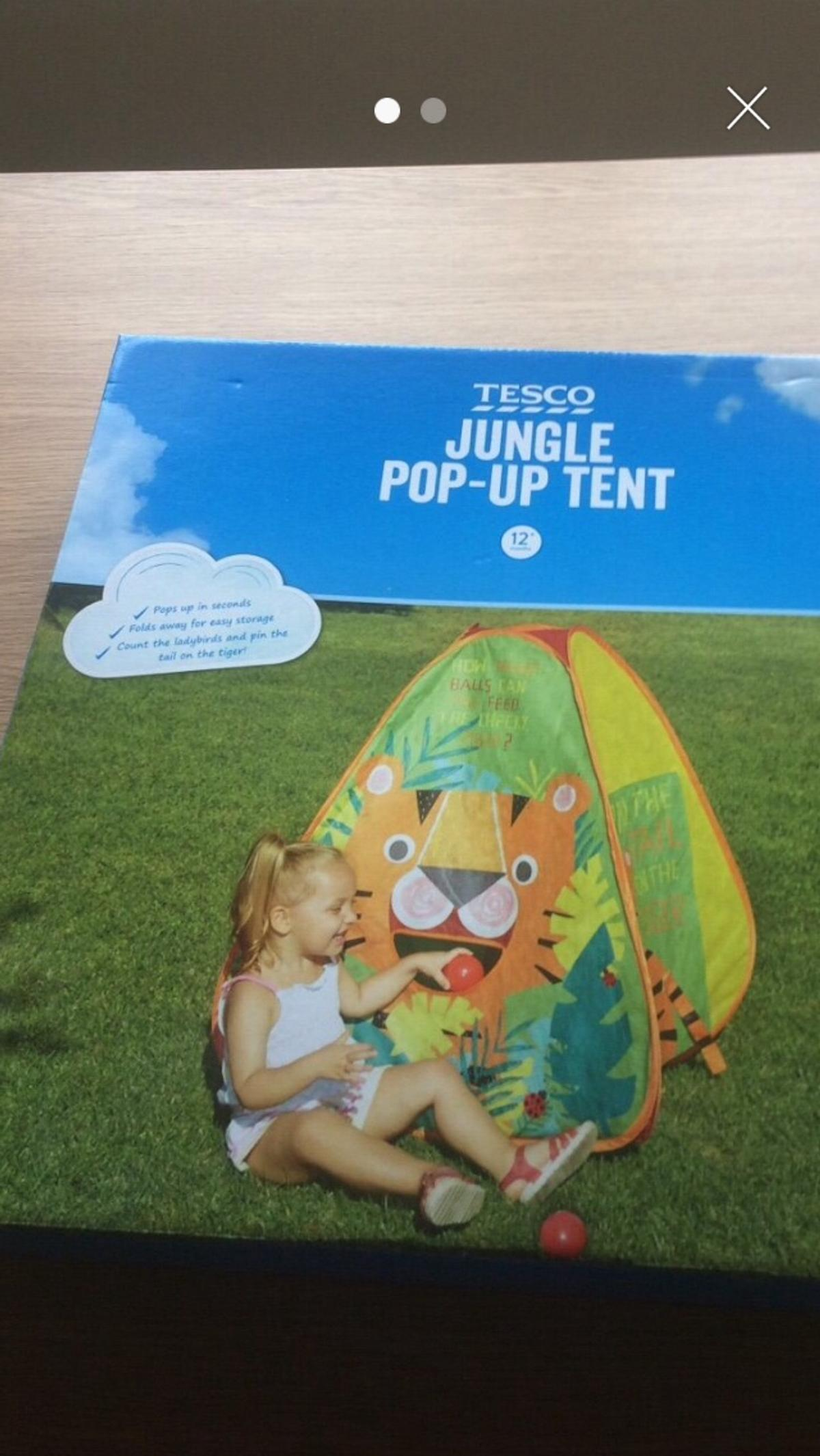 huge selection of 4f09c 64a09 Jungle pop up tent from Tesco