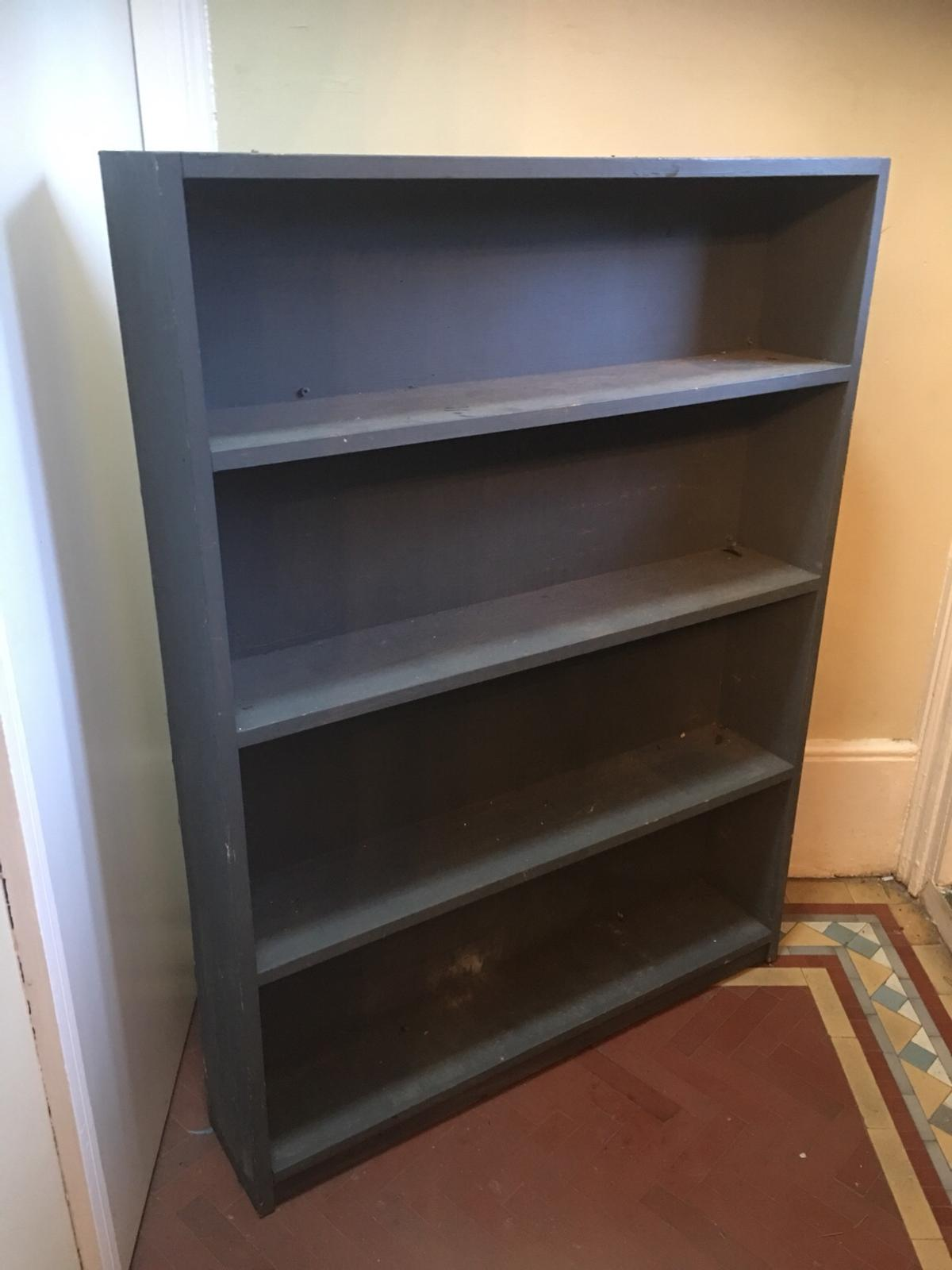 Shabby Chic Wooden Painted Bookcase Shelf
