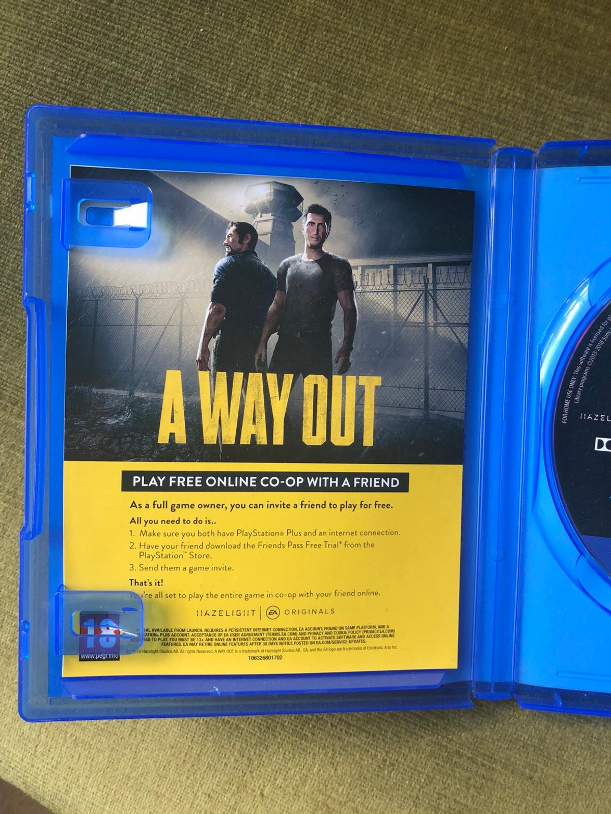 A Way Out PS4 in N1 Islington for £25 00 for sale - Shpock
