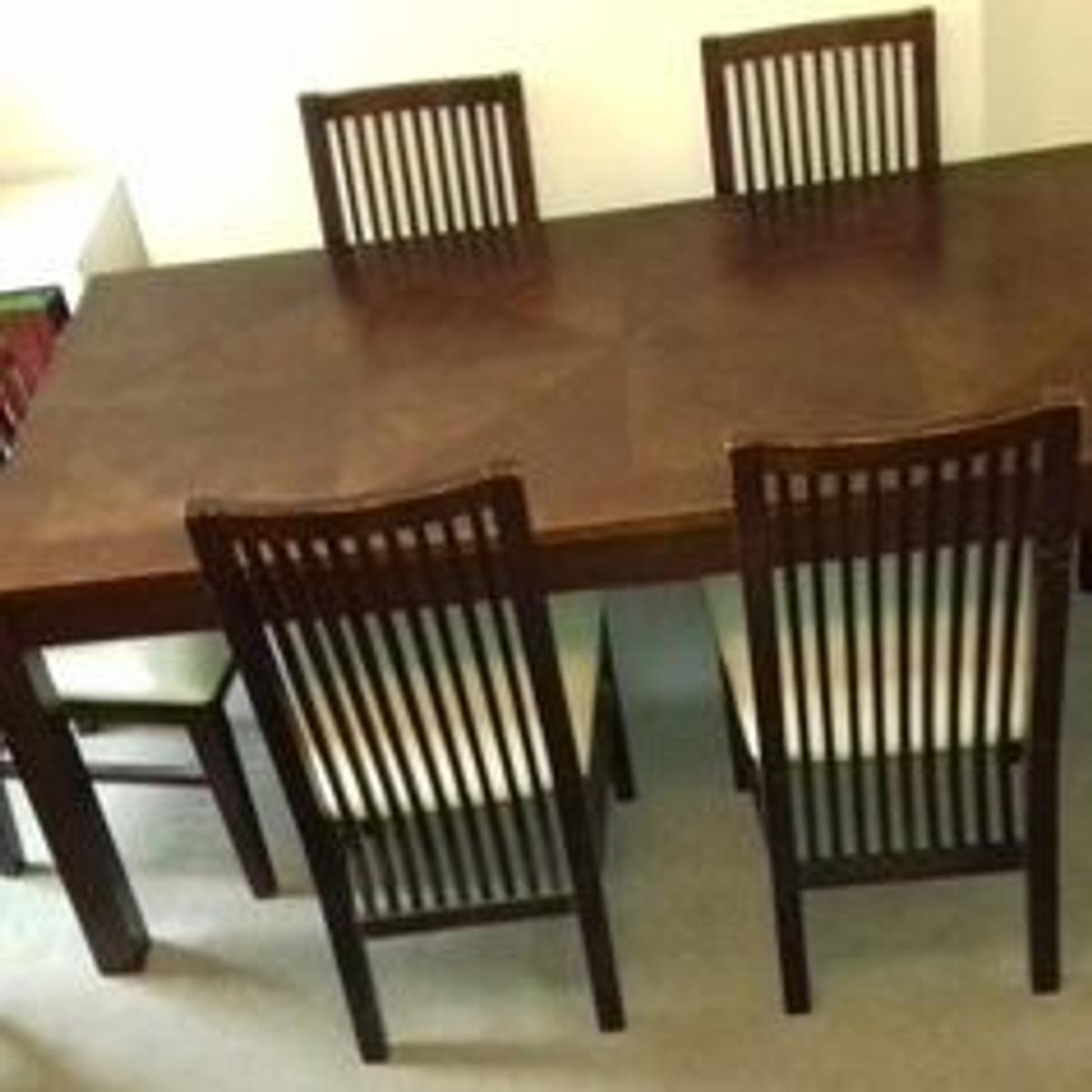 Prime Dark Wood Dining Table 6 Chairs For Sale Onthecornerstone Fun Painted Chair Ideas Images Onthecornerstoneorg